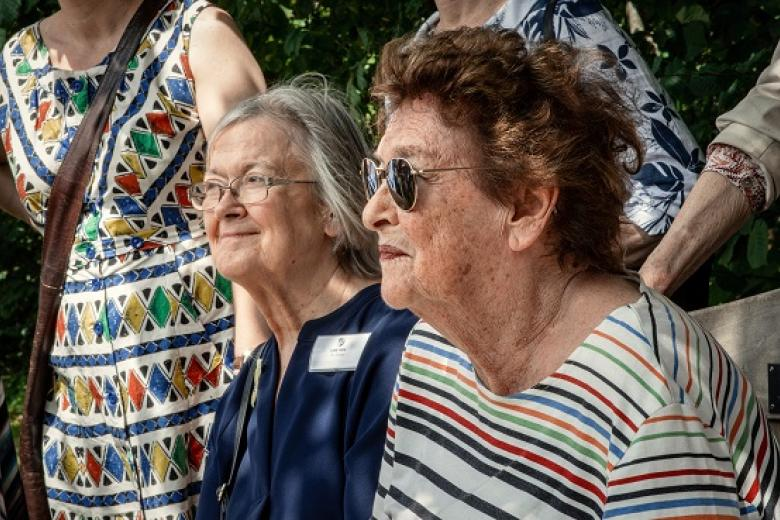 Baroness Brenda Hale and Dame Rosalyn Higgins at the Girton150 Festival (2019)