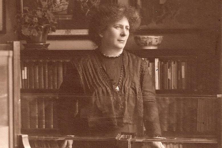 Hertha Ayrton in her laboratory, taken by J Russell & Sons, 1910 (archive reference: GCPH 7/3/3/2)