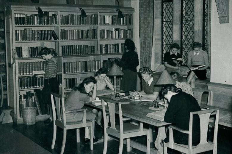 Student studying in the McMorran Library
