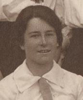 Dorothy Wrinch, the first Yarrow Scientific Research Fellow, taken from the first year photograph by Mason & Co, 1913 (archive reference: GCPH 11/4a/36/54b)
