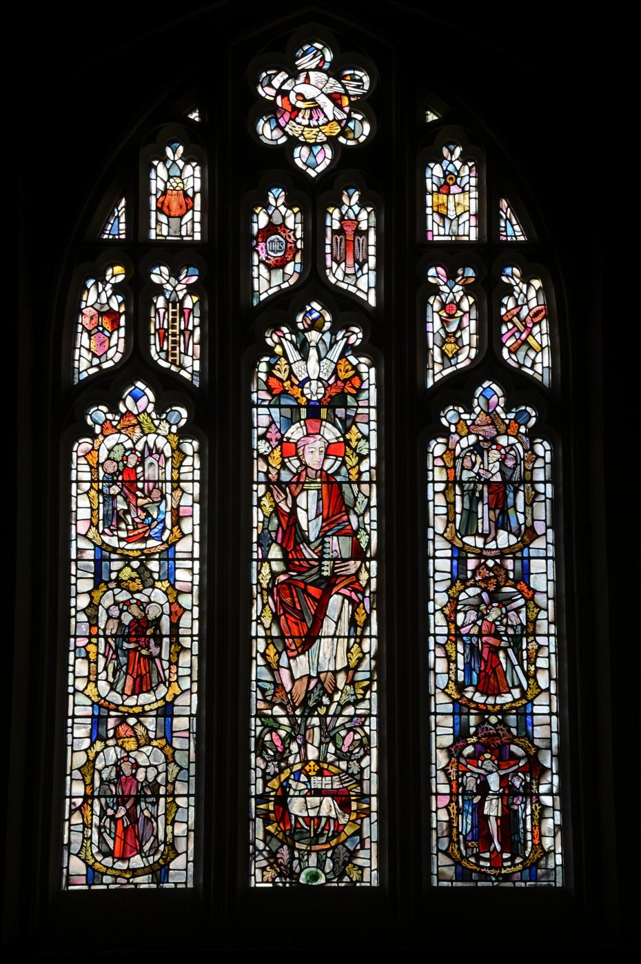 The stained glass window, photographed by Phil Mynott, 2015 (archive reference: GCPH 2/4/16).