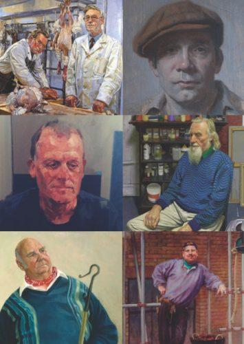 A section of People Portraits artwork